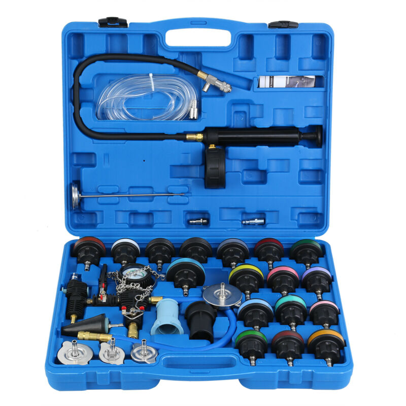 $74.96 • Buy Adapter Radiator Pressure Tester Test Kit With Coolant Vacuum Purge Refill 28pcs